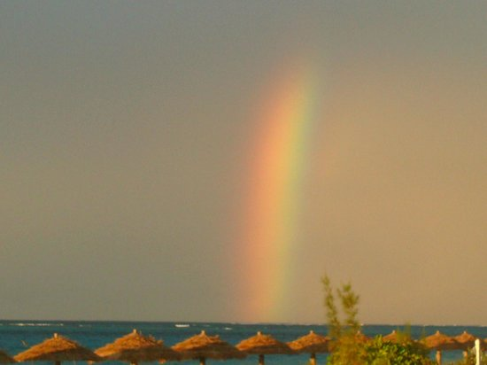 The Sands at Grace Bay: One of 2 rainbows seen that evening