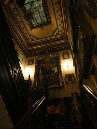 The Frederick Stegmaier Mansion: stunning stairway - it's like a museum!
