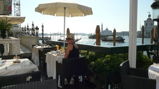 The Westin Europa & Regina, Venice: breakfast overlooking the water