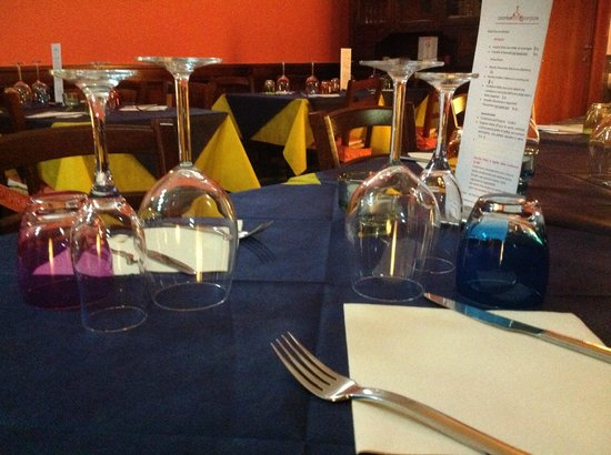 Osteria I 5 Sensi Alla Pomposa: il tavolo