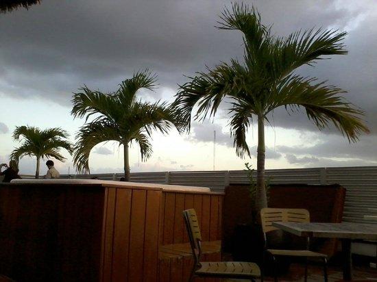 Hostel Mundo Joven Cancun: taras na dachu z barem kuchnia i jacuzzi