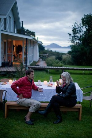 Patagonia Sur Reserves - Melimoyu: Dining with a view of Melimoyu Bay