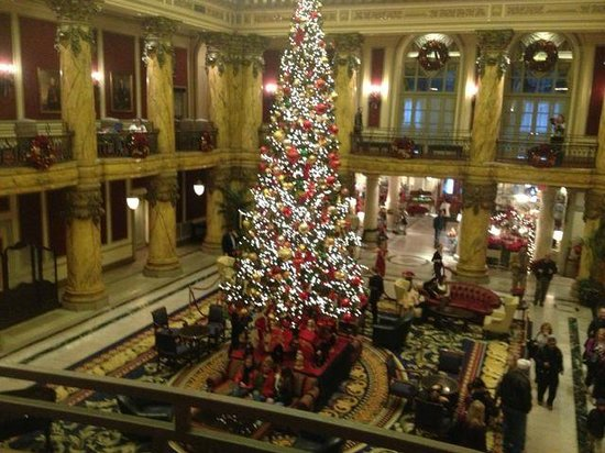 The Jefferson Hotel: The main Christmas tree