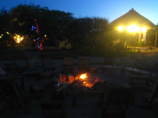 Marimba Secret Gardens: Bonfire every evening