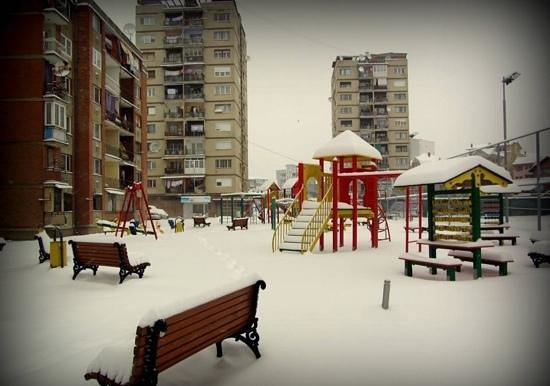 Mitrovica, Kosovo: Covered in snow