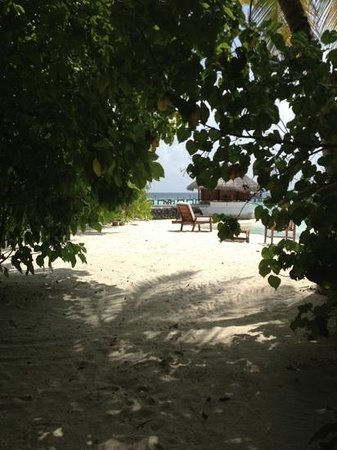 Eriyadu Island Resort: view out to the jetty