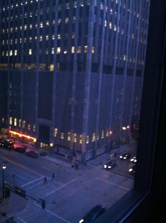 The Marquette: Hotel window shot at night
