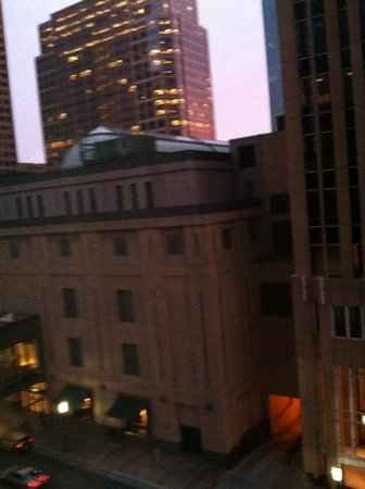 The Marquette: Hotel window shot at daybreak