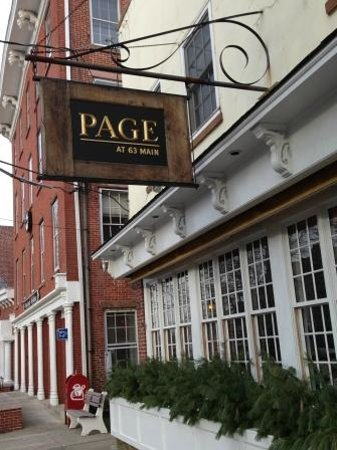 Page at 63 Main: Great restaurant with a funny name