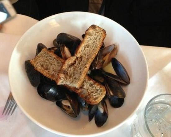 Page at 63 Main: Mussels.......east coast style