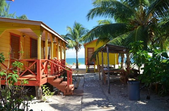 Julia's Rooms and Guesthouse: Looking from our bungalow to the beach