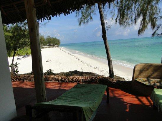 Pongwe Beach Hotel: vue depuis notre chambre