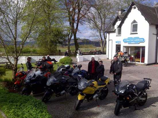 Strathcarron Hotel: Ready to roll, from an excellent night in the bar at Strathcarron