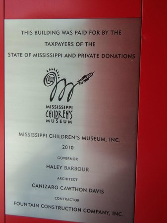 Mississippi Children's Museum: Outside of front door