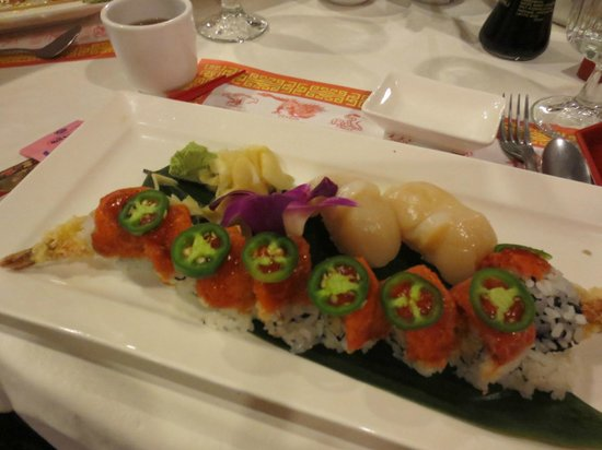 Ginger Garden:                   Fire cracker roll...spicy and delicious