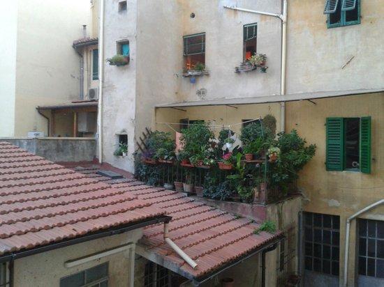 Galileo Hotel: Vue du balcon