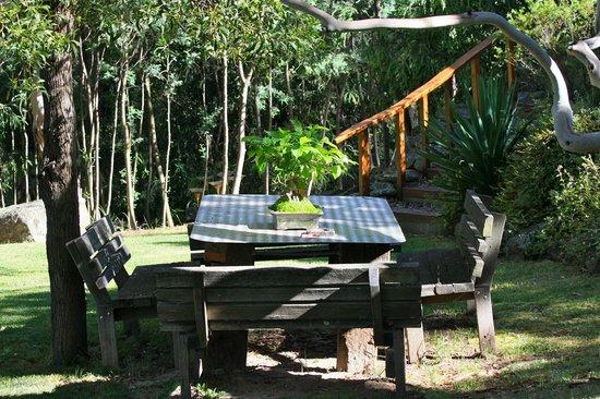 Bimblegumbie: Table in the gardens