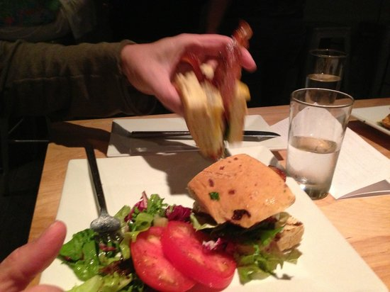 Coolinary Cafe: Pecan Wood Smoked BLT--several choices of bread.