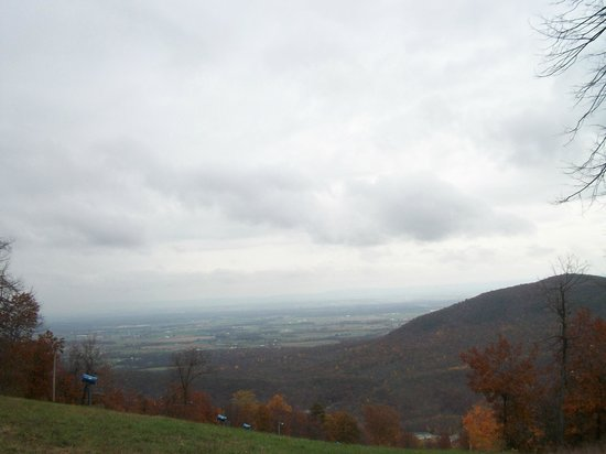 Whitetail Mountain Resort: The view up on top of the mountain during the Fall Festival at Whitetail