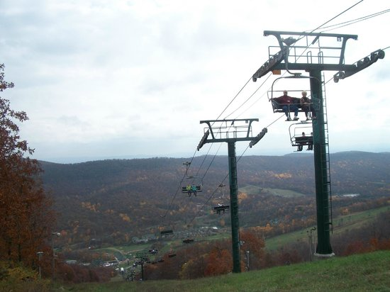 Whitetail Mountain Resort: The lift (Fall festival)
