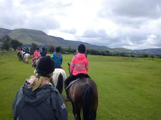 Tregoyd Mountain Riders: view from the back of the convoy