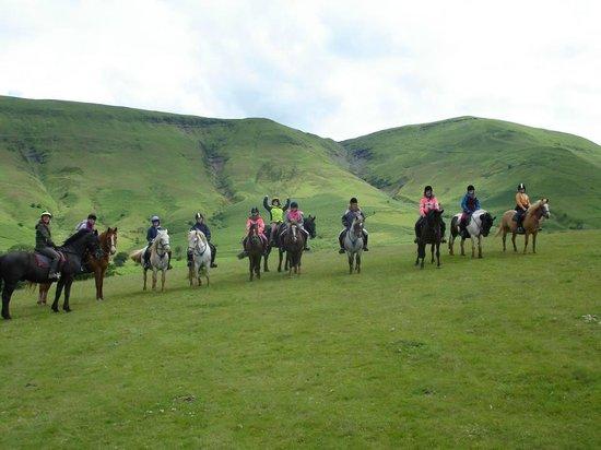Tregoyd Mountain Riders: team photo on the ridge