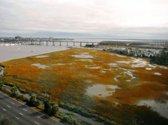 Holiday Inn Charleston Riverview: view looking out to the Atlantic Ocean from Harborview Restaurant