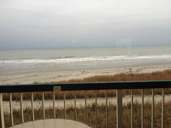 Westgate Myrtle Beach Oceanfront Resort : The Oceanfront view from the room