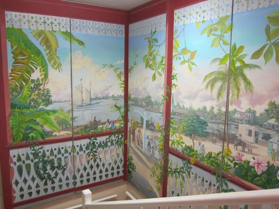 Cayman Islands National Museum: Artwork in Stairwell