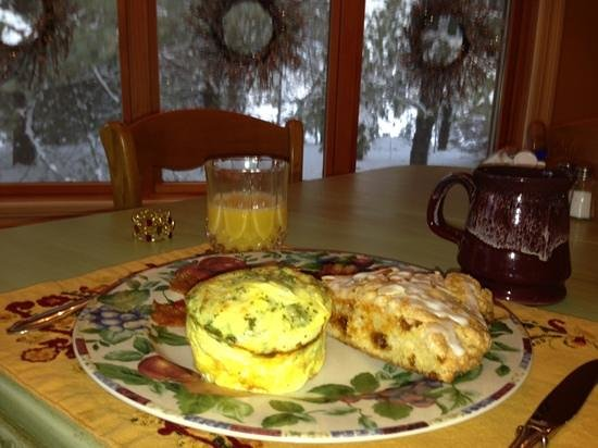 The Miller's Daughter Bed and Breakfast: egg soufflé