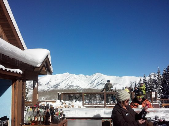 Grand Lodge Crested Butte: view from the Ice Bar