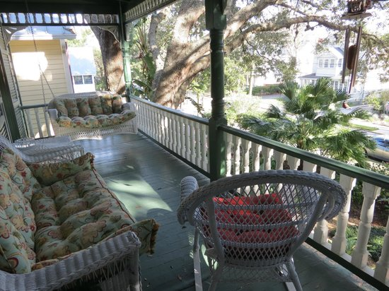 Alexander Homestead: My favorite. Our own porch off our room.