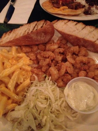 The WildFish Grill: Shrimp, Krazy Slaw, Mac and Cheese