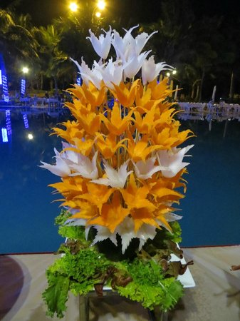 Pandanus Resort: Table Arrangement at the banquet