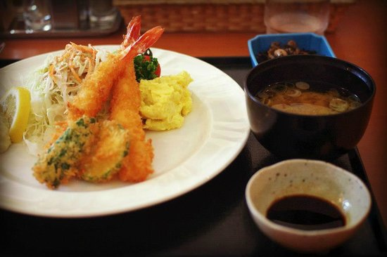 Tsugaru Traditional Crafts Museum: Ebi Tempura Set