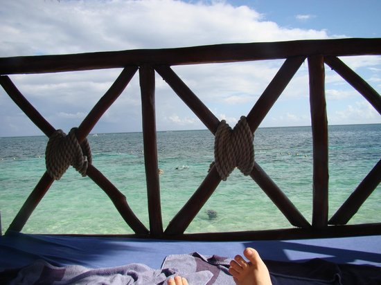 Azul Beach Resort Riviera Maya: View from our 2nd story beach cabana: Amazing!