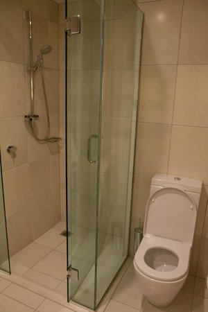 The Rees Hotel & Luxury Apartments: Shower area does not have heated floor