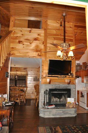 Great Branson Cabins: Love the high ceiling in Moose Hollow