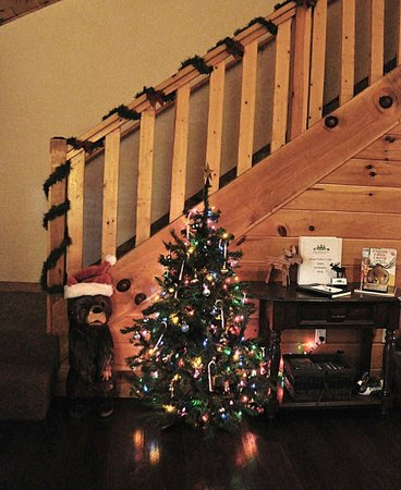 Great Branson Cabins: Love the holiday decorations! Moose Hollow