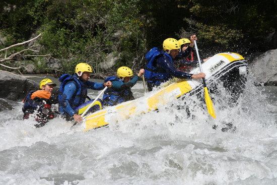 Le Lauzet Ubaye, France: Rafting sur L'Ubaye
