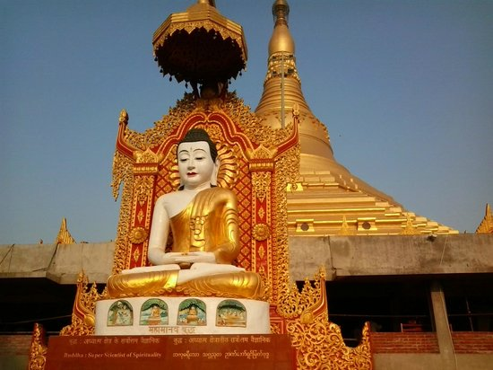 lord buddha giant statue picture of global vipassana pagoda