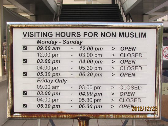 Image result for masjid negara opening hours