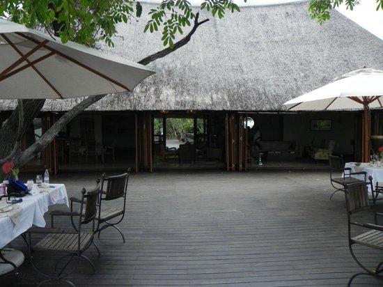 Royal Chundu Luxury Zambezi Lodges: Island Lodge from deck