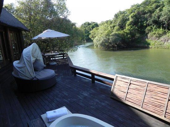 Royal Chundu Luxury Zambezi Lodges: View from our deck