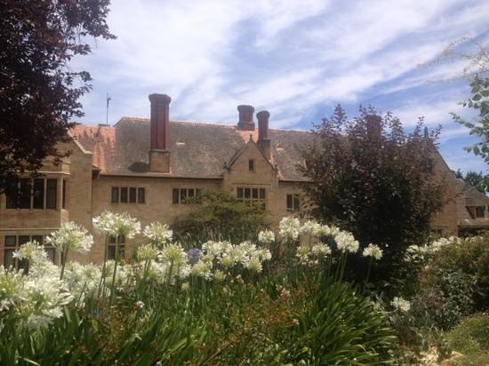 Carrick Hill: house view from garden