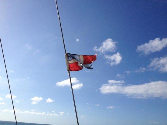 Grand Bahia Principe Punta Cana: Bandeira Dominicana
