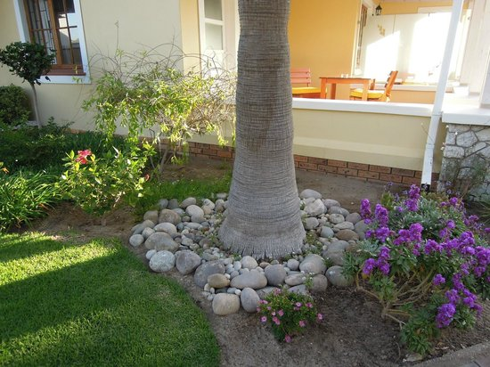 Cornerstone Guesthouse: Beautifully kept gardens within guesthouse grounds