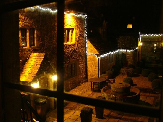 The Slaughters Country Inn: Christmas view from The Manor Suite.