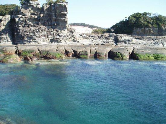 白浜町, 和歌山県,                   日置の千畳敷 岩の造形美