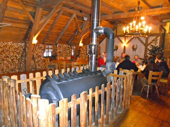 Waldhotel Fehrenbach: Wood heater in Function Room - Festschäune